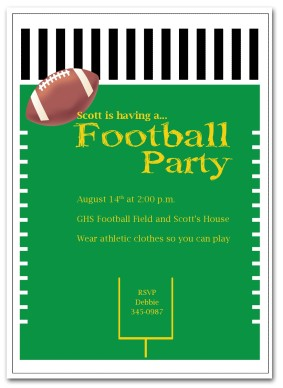 283x388 Printable Football Party Invitation Template