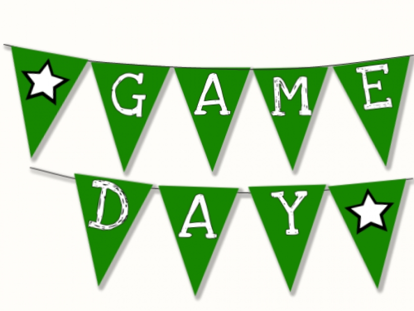 820x615 Football Game Day Printable Banner W Cupcake Amp Straw Flags Amy