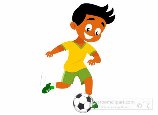 550x400 Soccer Football Clipart