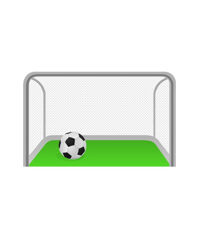 640x765 Soccer Goal Post Clipart