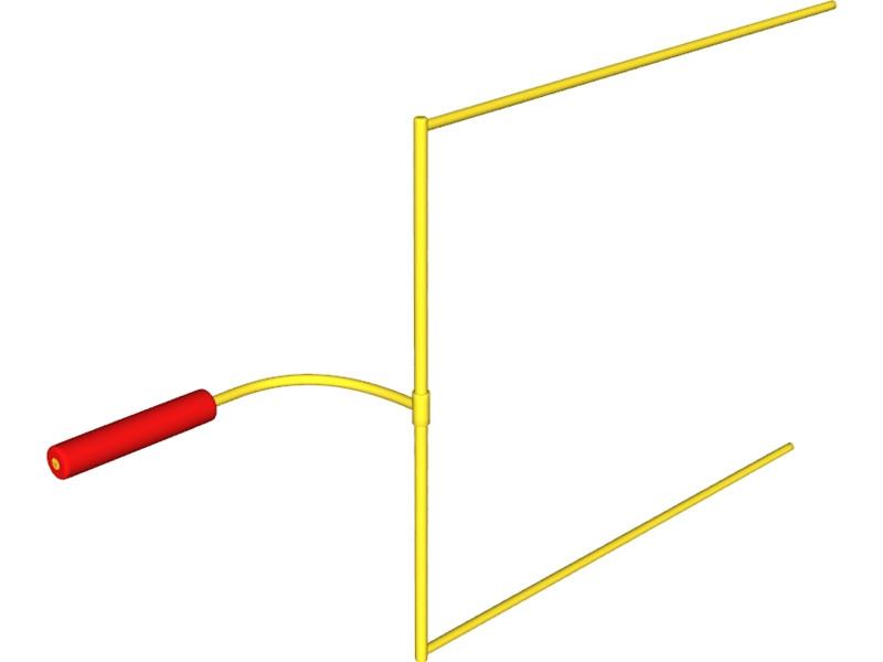 800x600 American Football Goal Post Clipart