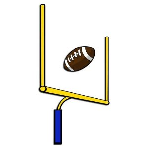 300x300 Football Goal Post Clip Art