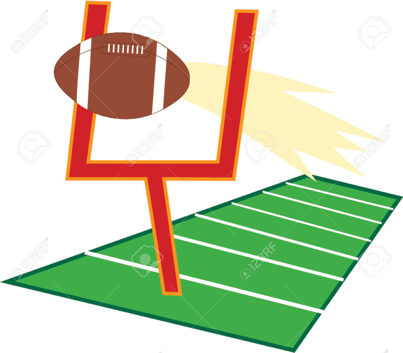 1300x1137 Football Goal Post Clip Art