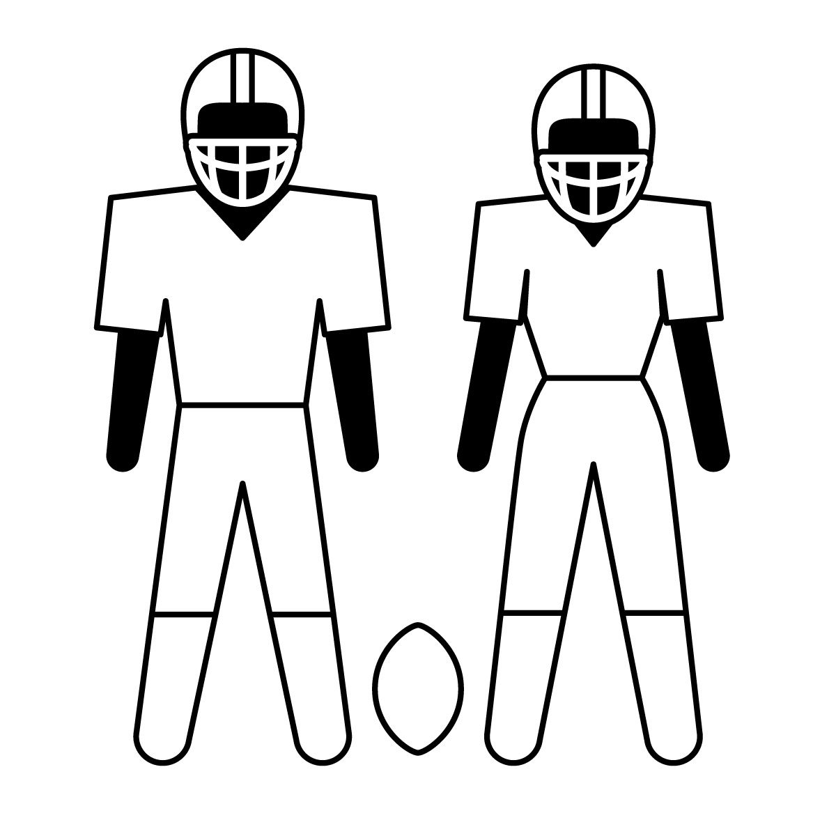 1200x1200 American Football Clipart Craft Projects, Sports Clipart
