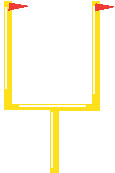 115x173 Football Goal Post Clipart