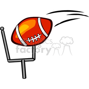 300x300 Royalty Free Football Going Through Goal Post Fieldgoal 168978