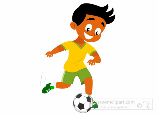 550x400 Soccer Football Clipart