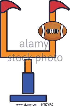 300x454 American Football Goal Post Ball Outline Stock Vector Art