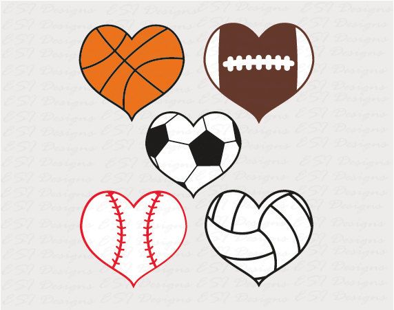 Football Heart Clipart