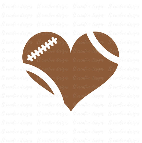 570x572 Football Heart Svg Football Love Svg Football Svg Football