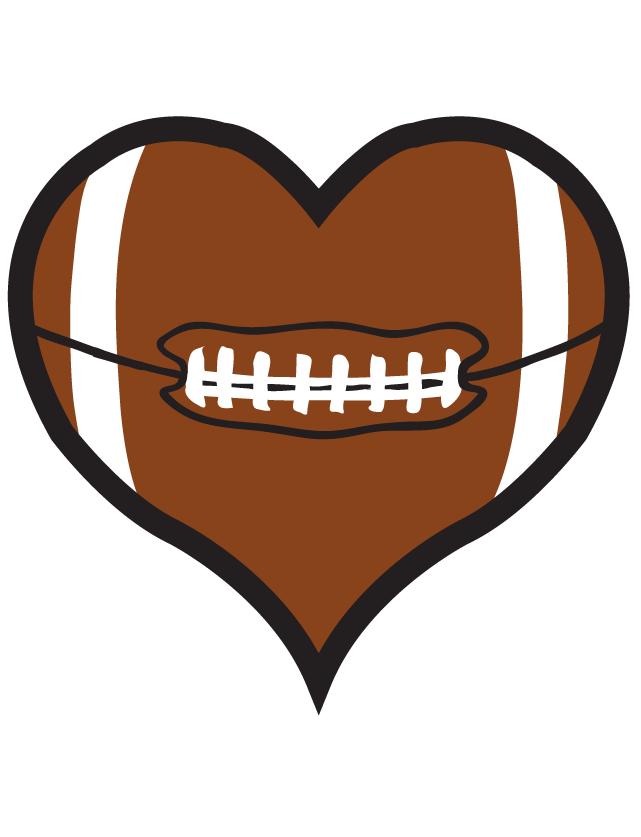 641x837 Football Heart Waterless Tattoo