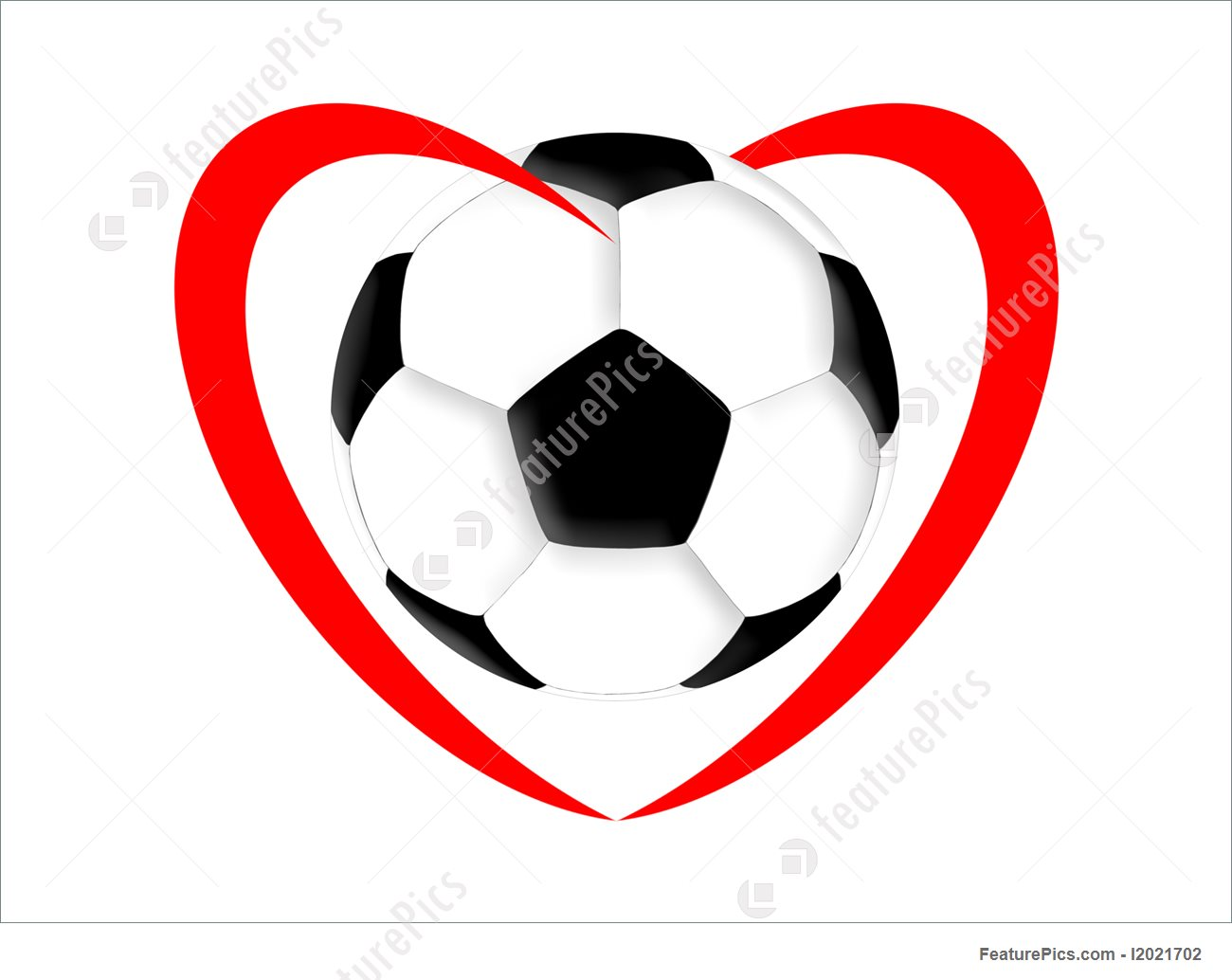 1300x1034 Football Love Illustration