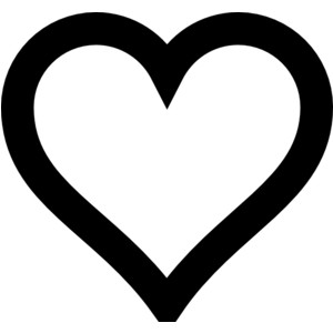300x300 Football Heart Clipart Black And White Collection