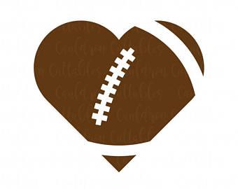 340x270 Football Heart Svg Etsy