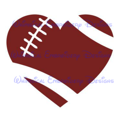 450x410 Graphics For Football Heart Clip Art Graphics