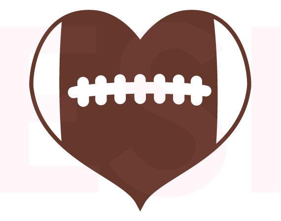 570x450 Heart Clipart Football