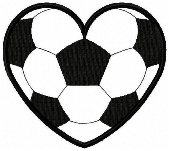 570x509 Heart Clipart Soccer Ball