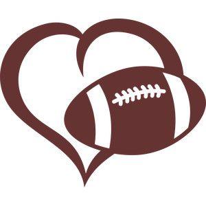 300x300 Heart Shaped Clipart Football
