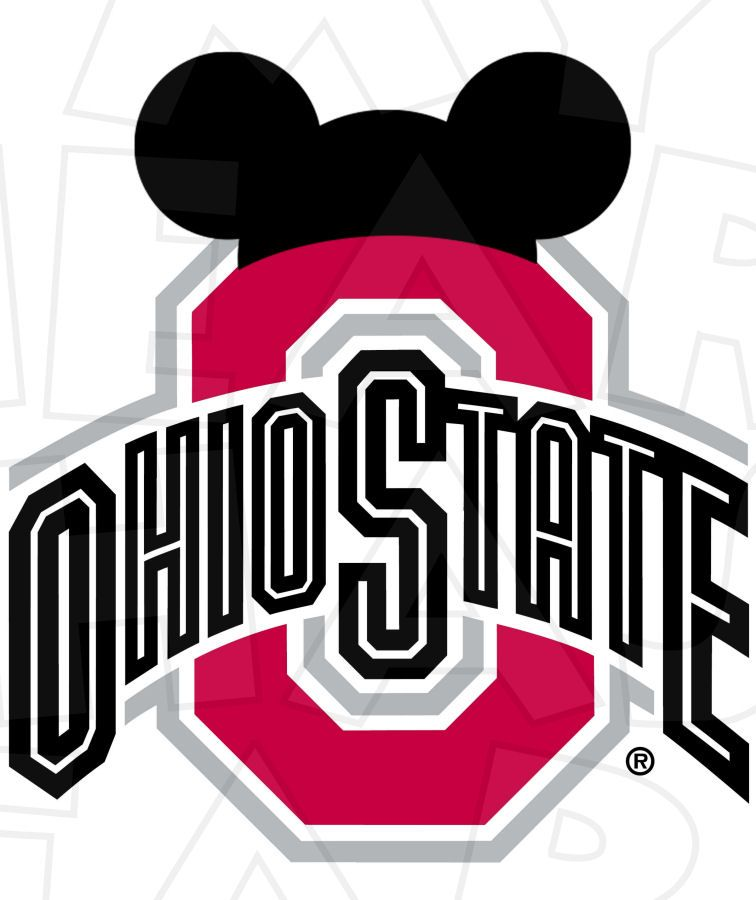 756x900 Osu Football With Mickey Ears Instant Download Digital Clip Art
