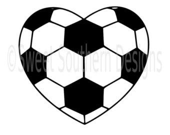 340x270 Soccer Ball Heart Clipart