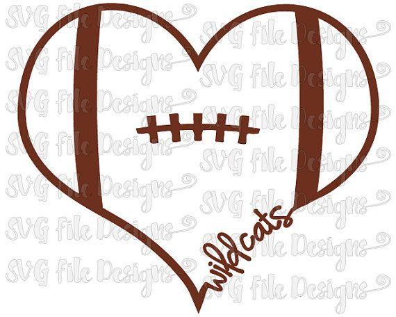 570x456 Heart Football Clipart
