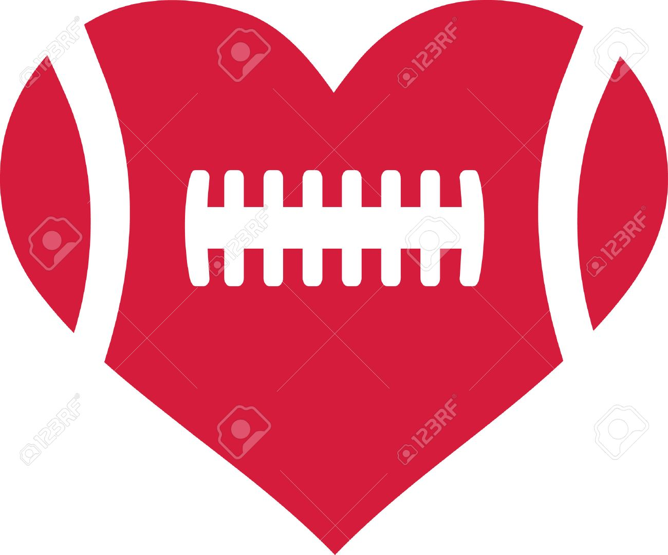 1300x1080 American Football Heart Royalty Free Cliparts, Vectors, And Stock