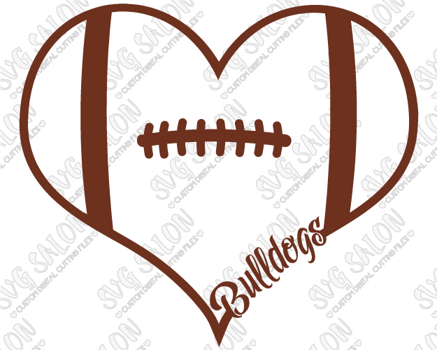 625x500 Of Georgia Bulldogs Fan Football Laces Heart Custom Diy Vinyl