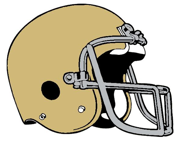 582x467 Gold clipart football helmet