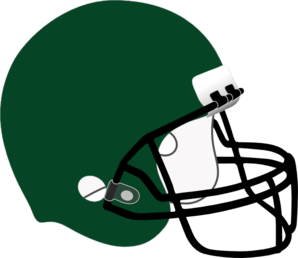 298x258 Green clipart football helmet