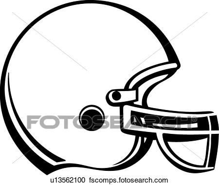 450x380 Clipart of Football Helmet u13562100