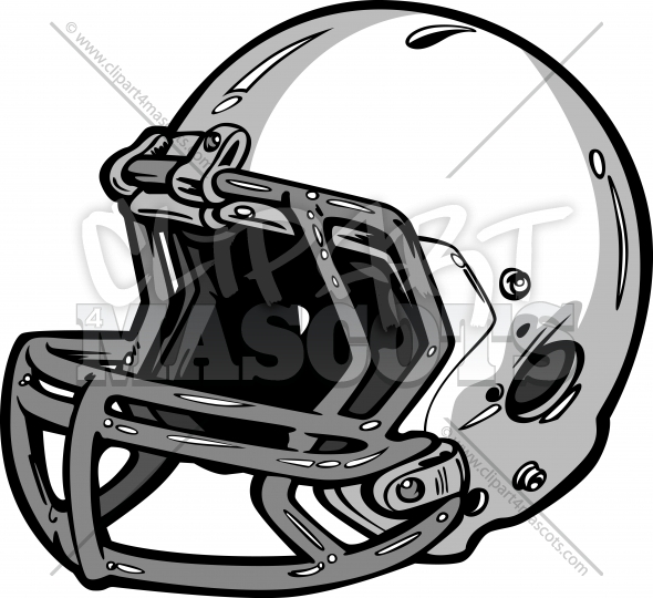 590x540 Football Helmet Clipart Graphic Vector Logo