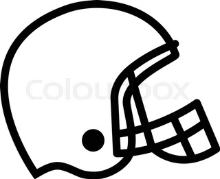 320x261 Red Football Helmet Stock Vector Colourbox