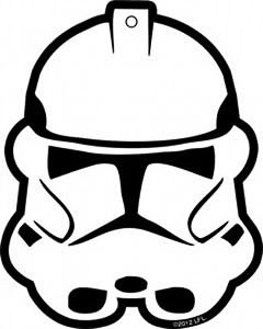 240x300 Star Wars Clone Trooper Helmet Mask Air Freshener 2012, New