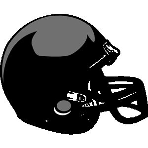 300x300 Black Football Helmet Clipart
