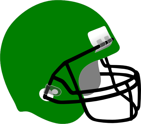600x529 Green Clipart Football Helmet