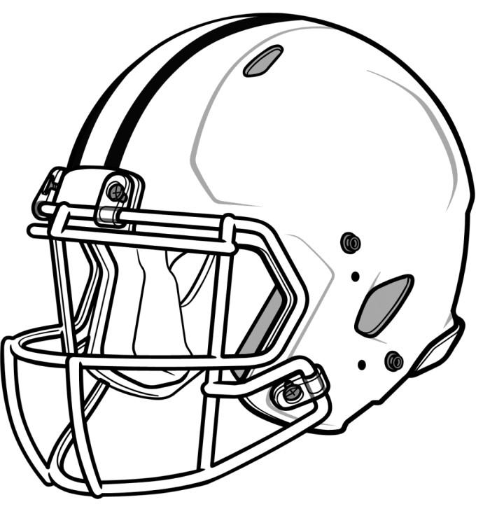 700x727 Football Helmet Drawings