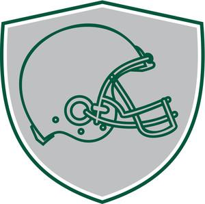 300x298 American Football Helmet Line Drawing Royalty Free Stock Image