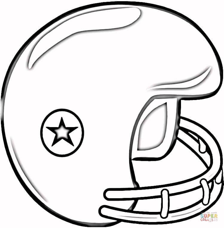 750x766 Football Helmet Coloring Page Free Printable Coloring Pages