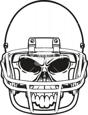 306x400 Graphics For Football Helmet Skull Graphics