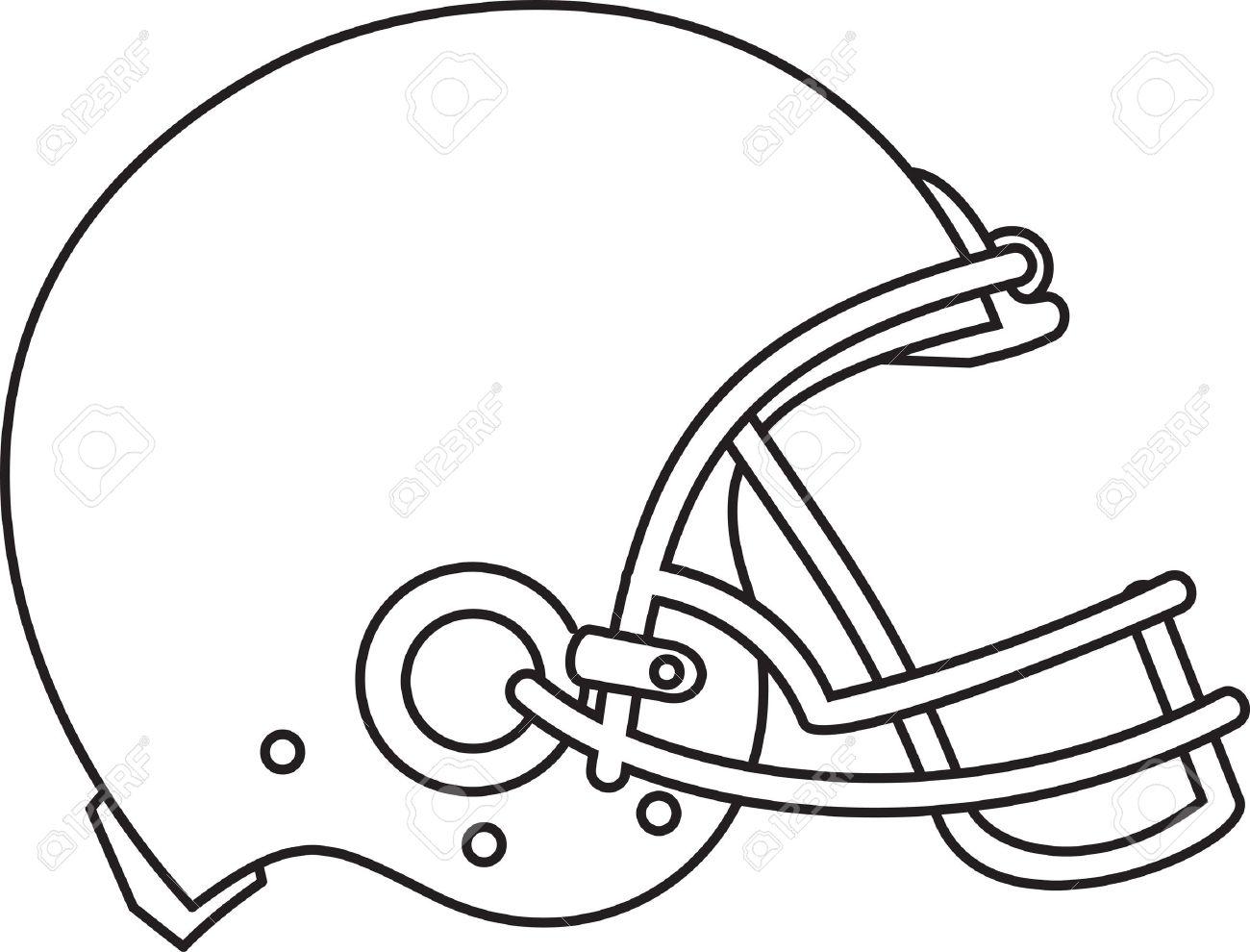 1300x990 Line Drawing Illustration Of An American Football Helmet Viewed