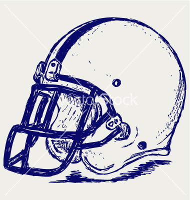 380x400 Vintage Clipart Football Helmet