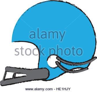 336x320 Drawing Helmet Mask American Football Equipment Vector