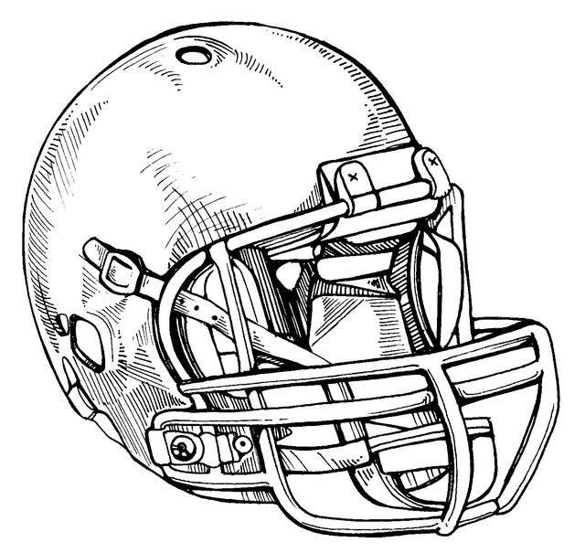 Football Helmet Drawing | Free download best Football ...