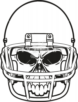 306x400 Football Helmet Front View Clipart