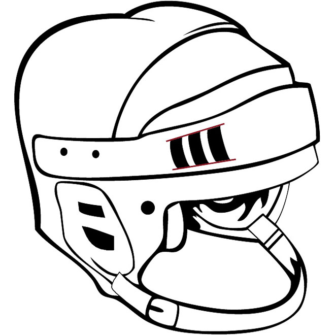 660x660 Nhl Helmet Vector Image