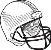 170x166 Clipart Of Football Helmet Sketch K10373960