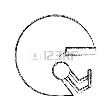 450x450 Cute Sketch Draw Football Helmet Cartoon Vector Graphic Design