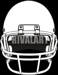 232x300 Football Helmet Front View Clipart