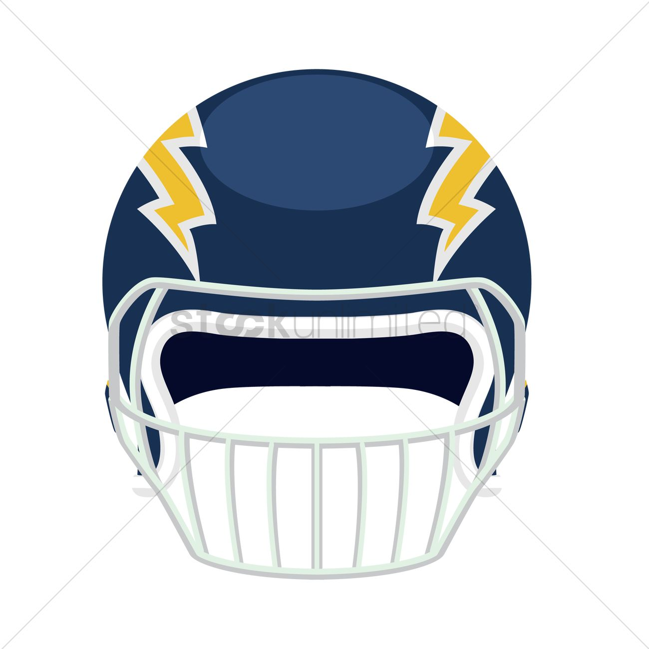 1300x1300 Free Front View Of An American Football Helmet Vector Image