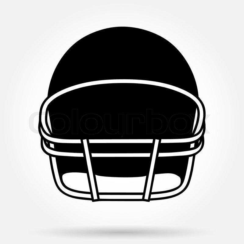 800x800 Silhouette Symbol Of American Football Helmet. Simple Vector Sport